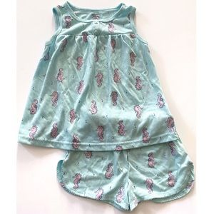 Just One You Seahorse Pajama Set Size 5T